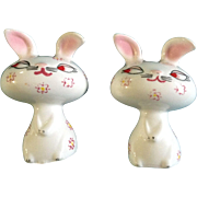 Holt Howard Salt & Pepper Shakers Bunny Rabbit Easter Figural Dated 1958 With Pink Flowers ...