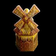 Cookie Jar Windmill House Large Mid-Century Pottery