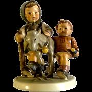 "Hummel Figurine ""Homeward Bound"" # 334 Goebel Girl and Boy With a Goat 5- 3/4"""