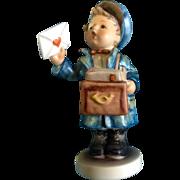 "Hummel Figurine ""Postman"" # 119 Goebel A Little Mail Man Boy 5 -1/2"""