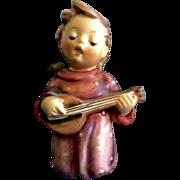 "Hummel Figurine ""Serenade"" #214 Goebel Angel Boy Singing With Guitar 3-1/4"" Nativity Gir"