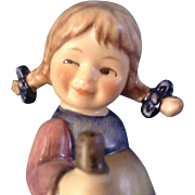 "Hummel Figurine ""SuBer Fratz, Pixie"" #768 Goebel Little Girl Hiking 3-1/2"""