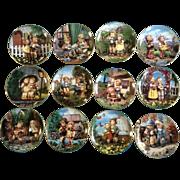 """Danbury Mint Little Companions Plates Hummel 12 Porcelain Collectors Goebel  8-1/8 """""""