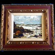 SOLD Stefan Impasto, Oil Painting On Board, Plein Air, Coastal View of Ocean, Signed by Artist