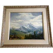 Elaine M Sweeney, Painting, Rocky Mountains Ajax Peak Telluride, Colorado, Original Oil on ...