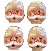 Doll Accessories Santa Claus St. Nicholas Christmas 1966 Vintage Set of 4 Rubber Face