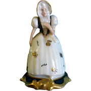 Rosenthal Selb Bavaria #20 453 Signed by Artist Gold Gilding Accents Fine Hand Painted Figurin