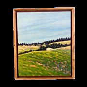 Gib Neal, Oil and Acrylic Mixed Media Painting on Canvas, Signed by Nebraska Artist, Nebraska