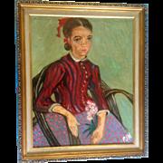 Van Gogh, La Mousmé also known as La Mousmé, Sitting in a Cane Chair, Signed ...