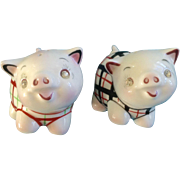 442 Anthropomorphic PY Pig Salt & Pepper Shakers Rhinestone Diamond Eyes
