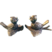 Mod. Dep. Italy Bird Brass Metal Colored Adorable Vintage Figurines