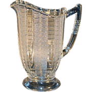 SOLD EAPG Fishscale Pitcher by Bryce Brothers c. 1880s