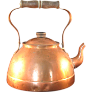 SOLD Vintage Old Dutch Solid Copper Tea Pot Made in Portugal