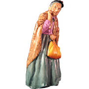 "Royal Doulton Bridget The Curious Old Woman -  8"" Tall -  #HN2070"