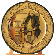 The Dr Johnson The Cheshire Cheese 1776-8L Plate by Royal Doulton Post 1912 - Marked ...