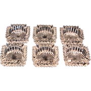 6 Heisey Ridgeleigh Square Crystal Ashtray #1469 (1935-1944) Marked H