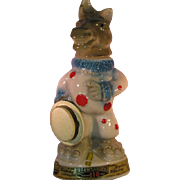 Jim Beam Democrat Donkey Clown Liquor Decanter - Empty 1968 Kentucky Straight with tags