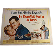 "1959 Set of 8 Lobby Cards For Movie ""It Started with a Kiss"" Starring Glenn ..."