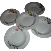 SALE These are old vintage POPE GOSSER pattern FLANDERS 5 Berry bowls