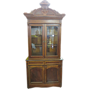 Eastlake Victorian Walnut Cupboard Circa 1880