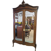 French Victorian Zebrawood Armoire with Art Nouveau Accents, Circa 1880