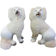 Staffordshire Poodle Dogs Circa 1850-1880