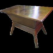 Pine Dough Box Table (Trough And Tray), Circa 1840s
