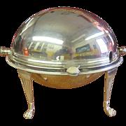 Gravy Server Domed-Lid Martin Hall & Co Sheffield England Nickel Silver 1854-1866