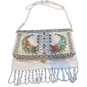 Victorian Era Micro Beaded Evening Purse, Circa 1900