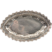 SALE Repousse Tiffany Sterling Silver Tray 11 7 ¼