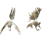 SALE Fine Peruvian Sterling Silver Roosters