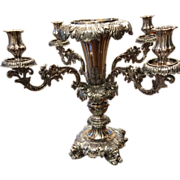 REDUCED Silver Plated Bronze Centerpiece Candelabra