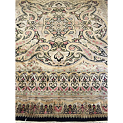 "SALE Fine Persian Kerman Hand Knotted Oriental Rug    8' x 10' 4"" Excellent Condition"