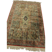 SALE Super Fine %100 Natural Silk Persian Ghom 4.1X6.2 Rug Kpsi 550