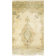 SALE PERSIAN KERMAN Hand Knotted Wool Floral Oriental Rug Carpet 9.8x12.6