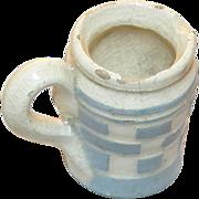 RARE: 22mm Miniature blue checkered creamer