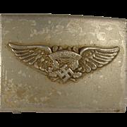 SALE WWII German Luftschutz aluminum belt buckle