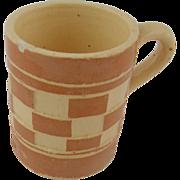 1920's Czech checkerware mug light brown