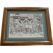Photograph, ca.1890, Virginia gold mine operation and miners