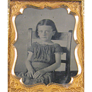 -Child- 9th plate photograph on leather, ca.1860's