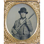 SOLD -Recruit- 6th plate Ambrotype photograph ca.1860's