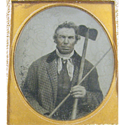 -Farmer- 6th plate Ambrotype photograph ca.1860's