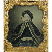 -Belle- 6th plate Ambrotype photograph, ca.1860's