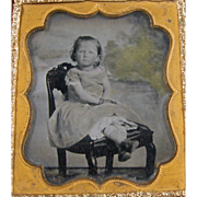 -Urchin- 6th plate Ambrotype photograph ca.1860's