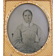 -Pioneer- 6th plate Ambrotype photograph ca.1860's