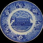 Fredericksburg VA blue transferware plate ca.1880's
