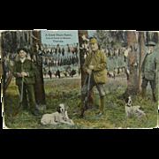 RPPC, colorized, hunting ca.1910's, quail & ducks, Florida.