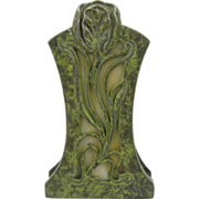 1900 Art nouveau lilly verdigris paperclip paperholder, office library