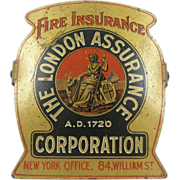 Fire Insurance advertising paperholder or paperclip ca.1940, office or library