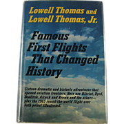 "SOLD =Signed 1st Edition= Lowell Thomas: ""Famous First Flights"""
